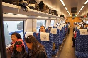 Hard seat dans le train entre Pekin-Beijing et Shanghai