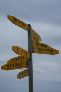 Distances depuis le Cap Reinga - Ile du Nord - Nouvelle-Zélande
