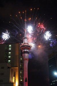 Feu d'artifice du Nouvel An