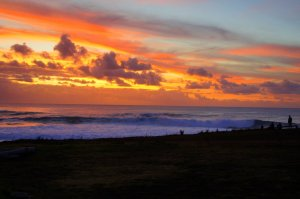 Coucher de soleil - Hanga Roa - Ile de Paques