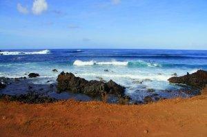 Vue toujours depuis la terrasse - Hanga Roa - Ile de Paques