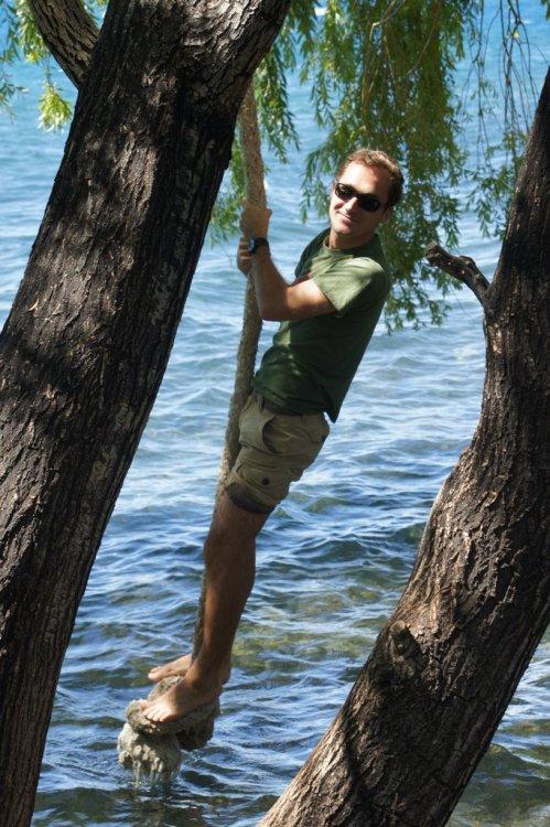 Corde sur le lac