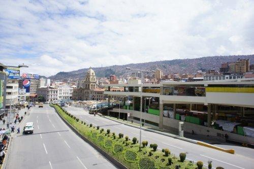 Grosse rue du centre ville - La Paz - Bolivie