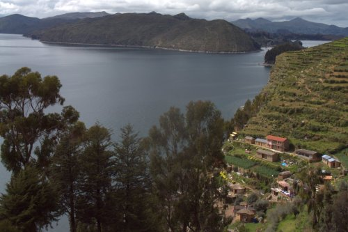 Cultures en terrasse - Ile du Soleil - Lac Titicaca - Bolivie
