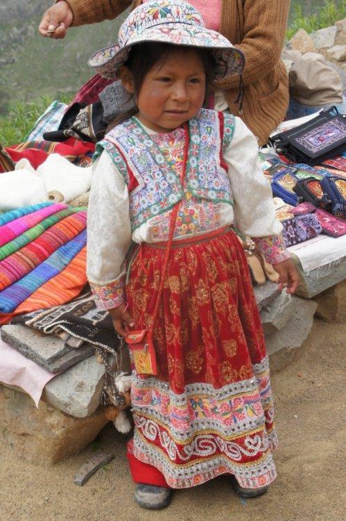Petite fille - Canyon de Colca - Pérou