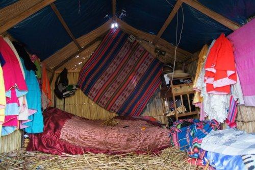Maison chambre - Uros - Lac Titicaca - Pérou